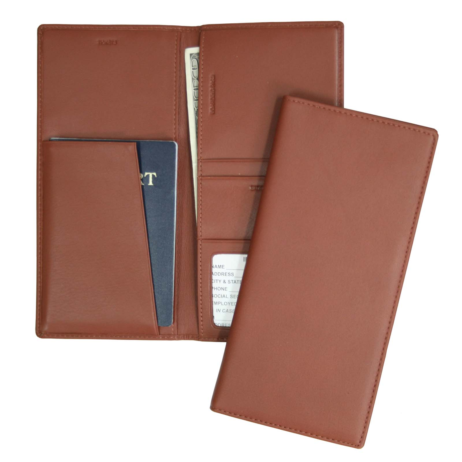 Leather Passport and Ticket Holder