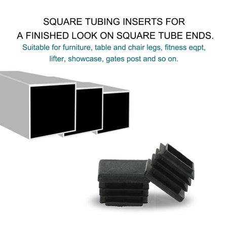 "Square Tube Insert Furniture Floor Protector for 1.26"" to 1.34"" Inner Size 40pcs - image 3 of 7"