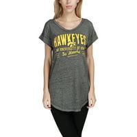 Iowa Hawkeyes Women's Enshrine V-Neck Nightshirt - Black