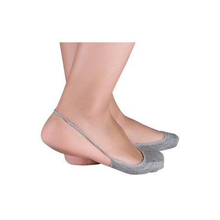 Women Heelless Invisible One Strap Cotton Half Socks 10 pair Size 9-11 Gray - image 2 of 6
