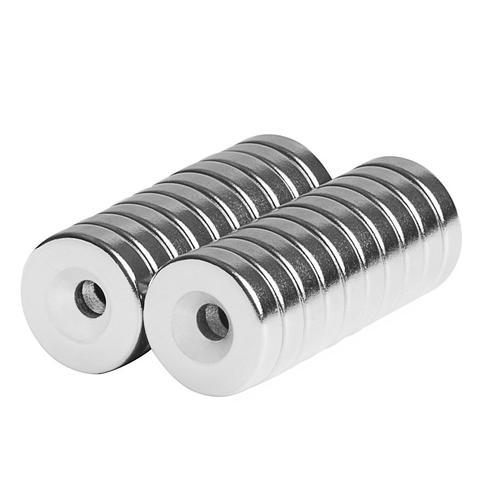 totalElement 1/2 x 1/8 x 1/8 Inch Neodymium Rare Earth Countersunk Ring Magnets N42 (20 Pack)