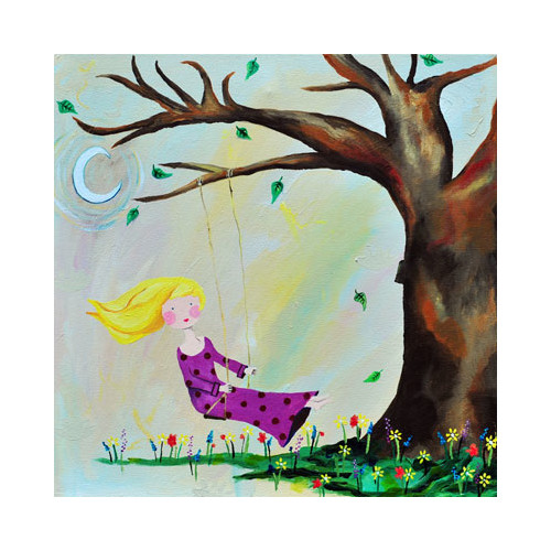 Cici Art Factory Wit & Whimsy Swing Canvas Art