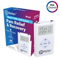 TENS Unit + EMS System - Combination Dual Channel Electrotherapy + Strength and Recovery System from iReliev