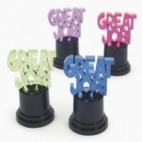 "Great Job"" Award Trophies - Stationery - 12 Pieces"