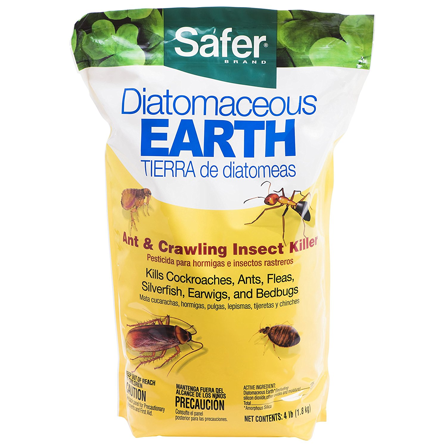51703 Diatomaceous Earth Bed Bug, Flea and Ant Crawling Insect Killer, 4 lb, Diatomaceous earth-based powder is a highly effective ant killer; 4-pound.., By Safer Brand