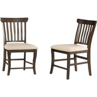 Venetian Dining Chair with Oatmeal - Antique Walnut