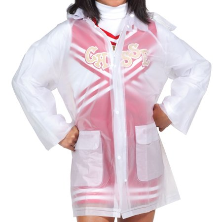 Clear Rain Jacket With Hood   Youth Large Size - LARGE