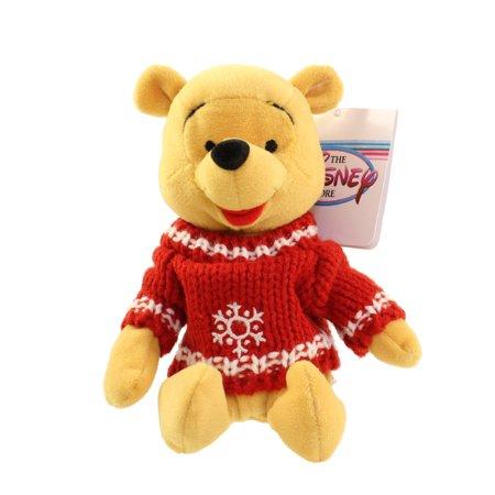 Disney Bean Bag Plush - SNOWFLAKE SWEATER POOH (Winnie the Pooh) (8 inch)