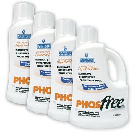 Natural Chemistry Phos Free Pool Phosphate Remover 4 X 3 Liter
