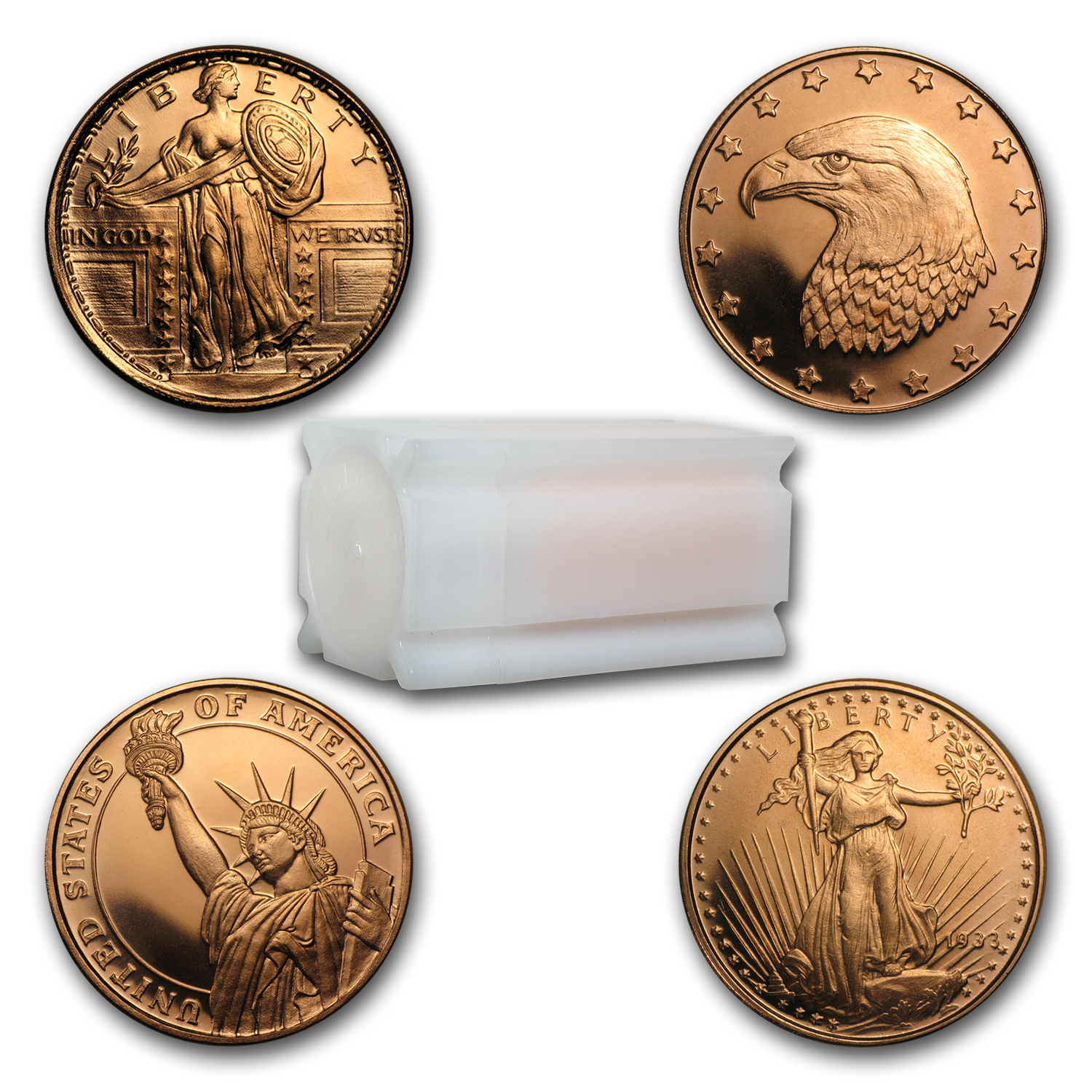1/4 oz Copper Round - Random Design (20 count tube)