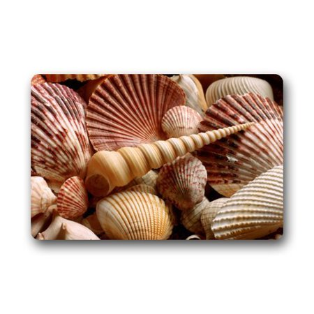 4x5 Mat - WinHome Wild Seashells Pattern Doormat Floor Mats Rugs Outdoors/Indoor Doormat Size 23.6x15.7 inches