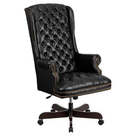 Flash Furniture High Back Traditional Tufted Leather Executive Swivel Office Chair, Multiple Colors
