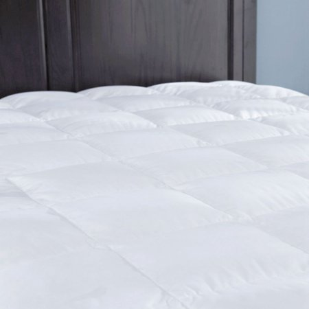 Puredown Down Mattress Pad/Topper, Quilted 100% Cotton Top, Block Bed Bugs and Dust Mites,King
