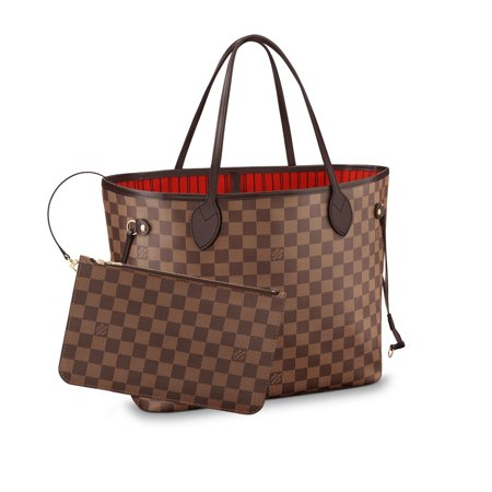 Louis Vuitton Damier Ebene Canvas Neverfull MM N41358 (Louis Vuitton New Monogram)