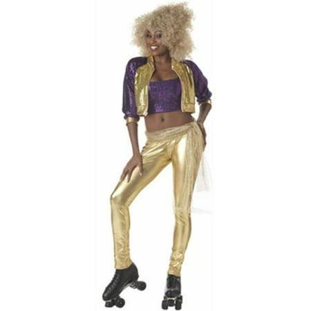 Adult Roller Rink Diva Costume~Adult Roller Rink Diva Costume - Roller Girl Costume Halloween