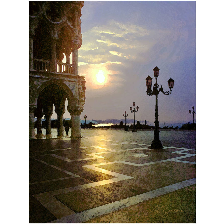"ArtWall George Zucconi ""Venice Piazza 2"" Wrapped Canvas"