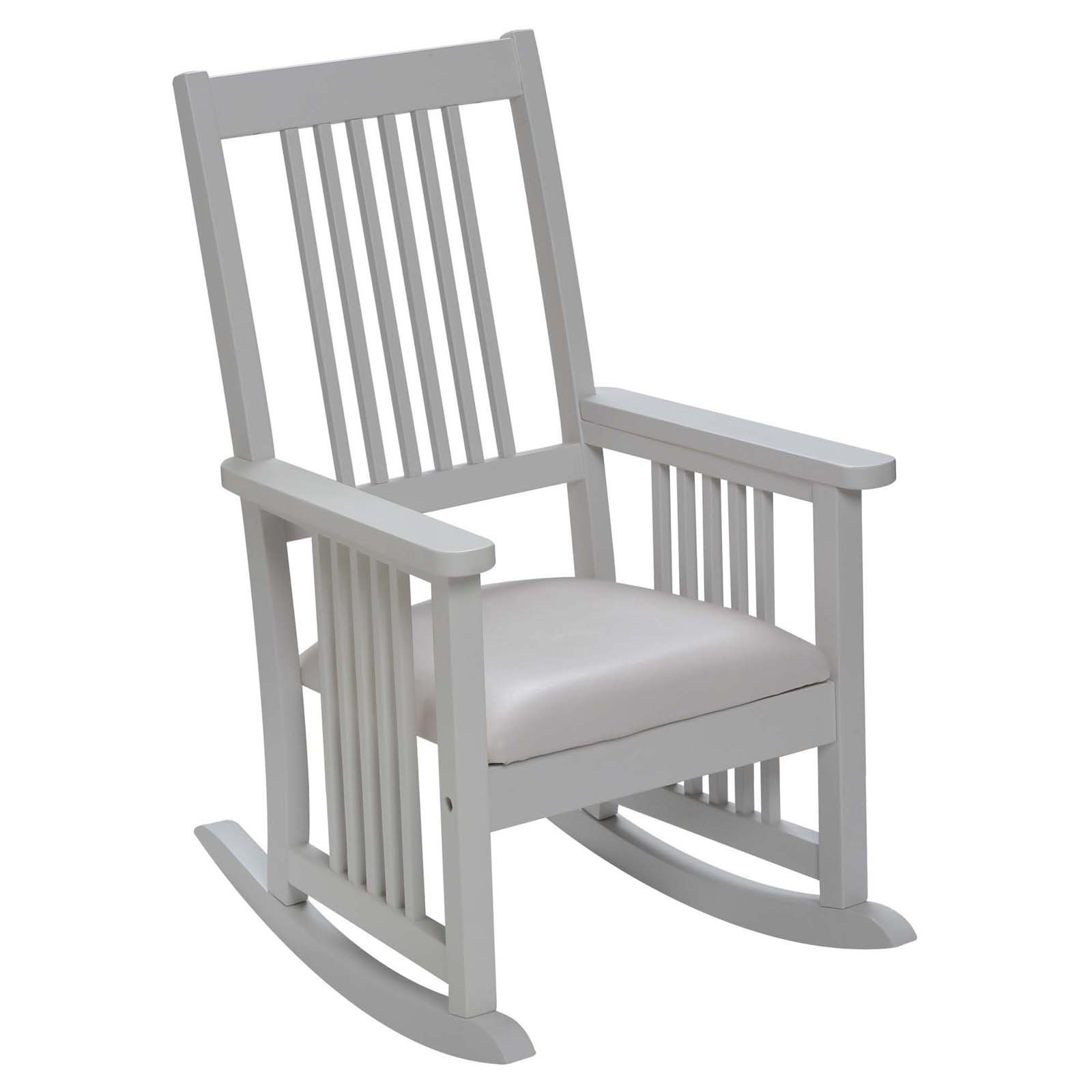 Mission Style Childrens Rocking Chair with Upholstered ...