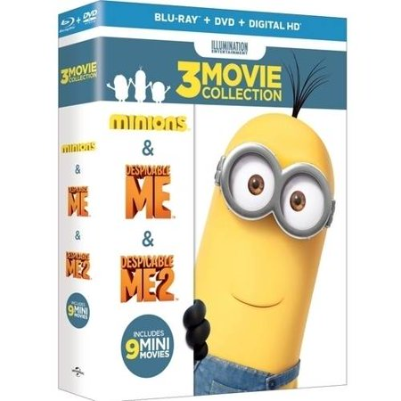 Despicable Me  3 Movie Collection  Blu Ray   Dvd   Digital Hd   With Instawatch