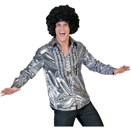 Silver Saturday Night Shirt Adult Halloween Costume - Saturday Halloween