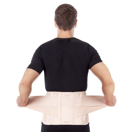 Lumbar Lower Back Brace Support Belt   Pain Relief And Comfort Posture   Beige
