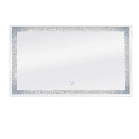 Dyconn Faucet Edison Crystal Wall Mounted LED Bathroom Mirror, 60
