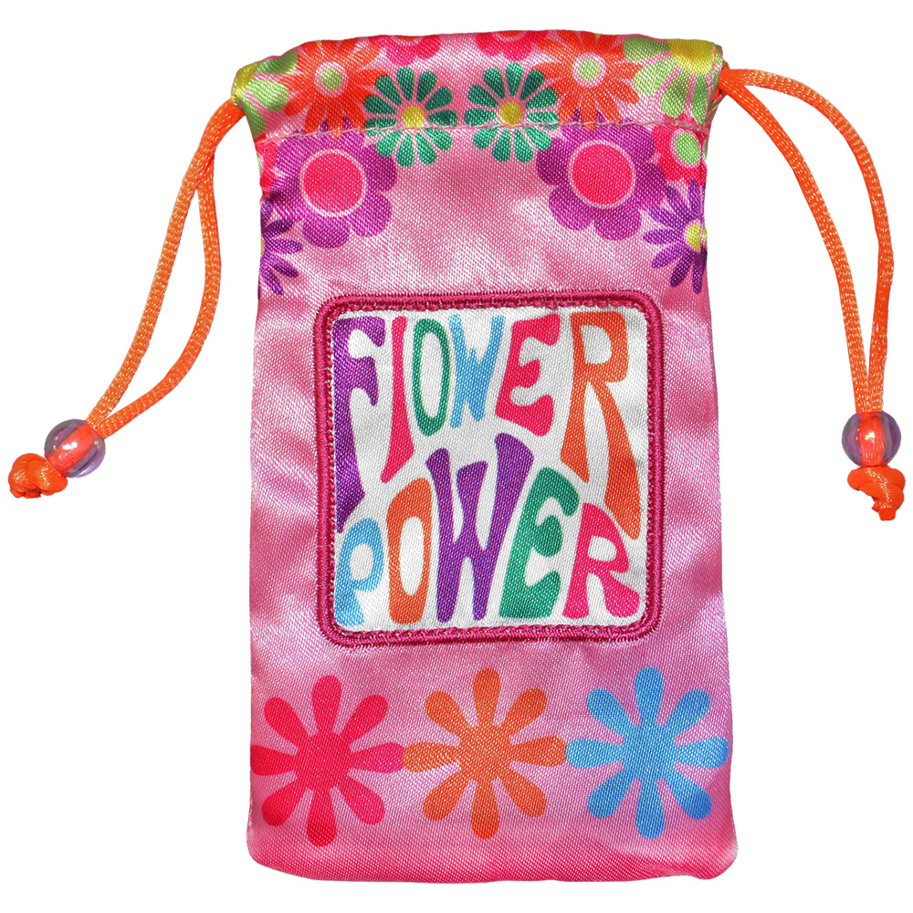 Universal Designer Handy Drawstring Pouch Jewelry Wedding Birthday Party Baby Shower Favor Gift Bags 4.5 x 2.75 inch - Flower Power