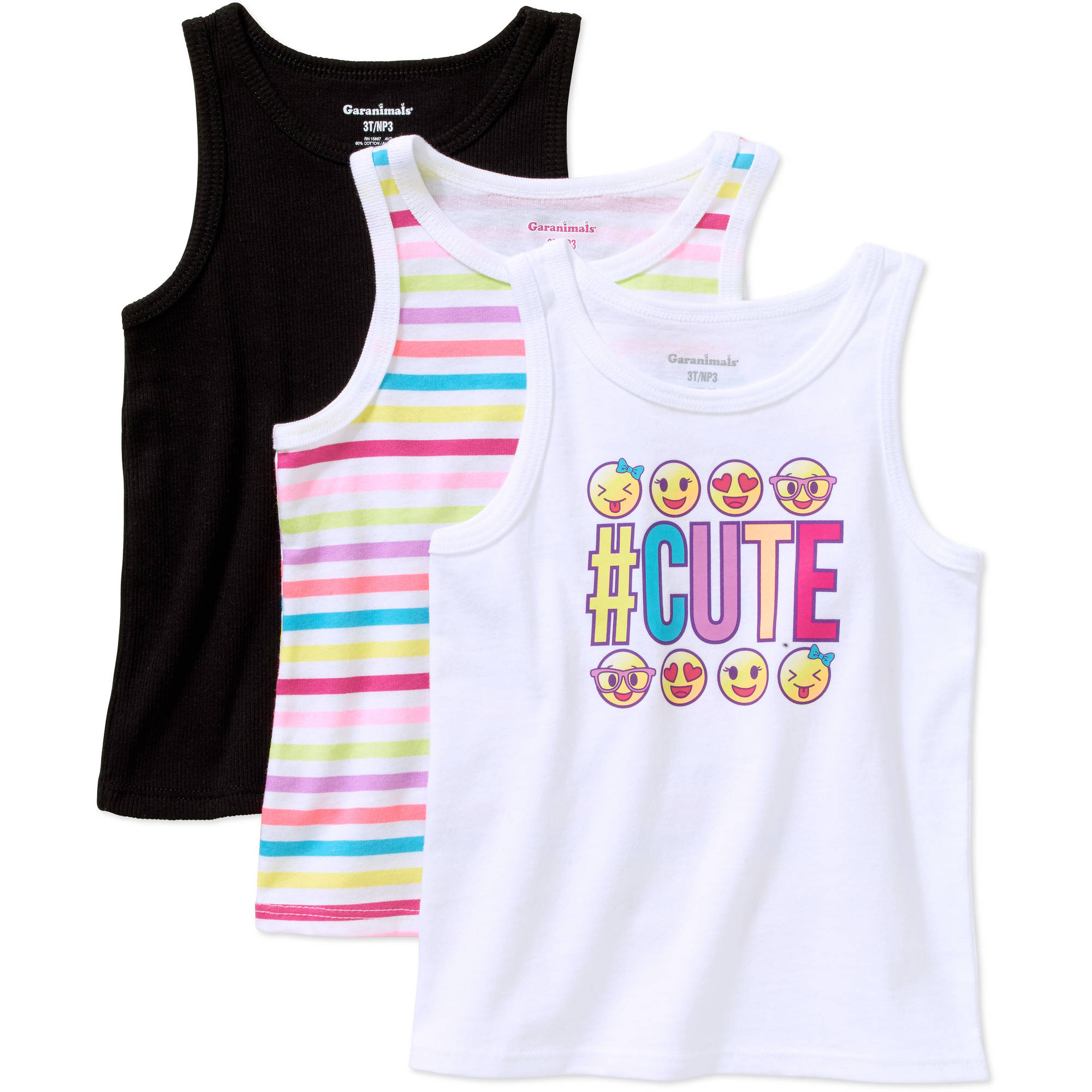 Garanimals Baby Toddler Girl Assorted Essential Summer Tanks 3-pack