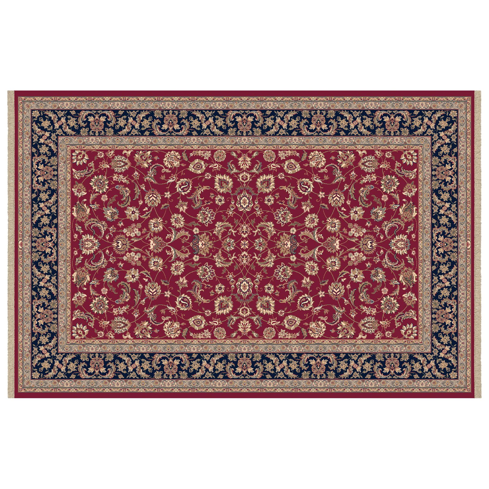 Dynamic Rugs Brilliant Collection Wool Hearth Rug-Red Frieze by Dynamic Rugs