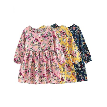 Cute Toddler Baby Girls Long Sleeve Princess Party Pageant Dress Kids Clothes - Party Girl Clothes