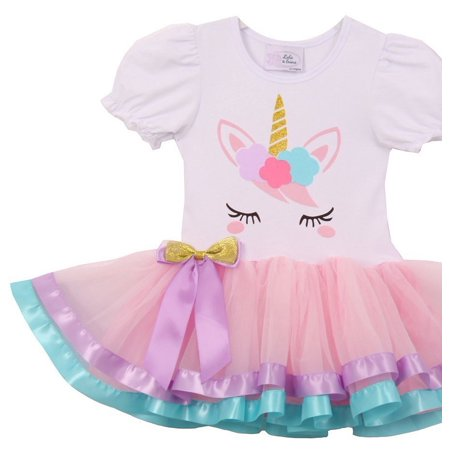 Cheap Cute Dress (Little Girls Cute Unicorn Birthday Girl Tutu Special Girls Tutu Dresses Pink S)