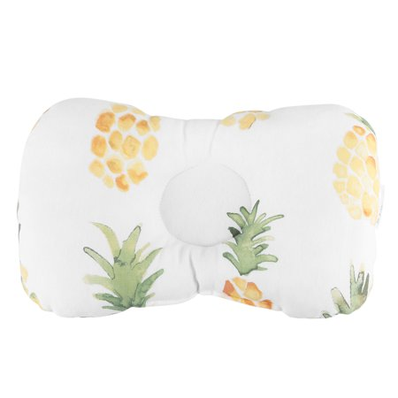 EECOO Soft Baby Pillow Roll Sleep Prevent Flat Head Pillow Cushion Bedroom Sleep Pillow Baby Pillow(Pineapple)