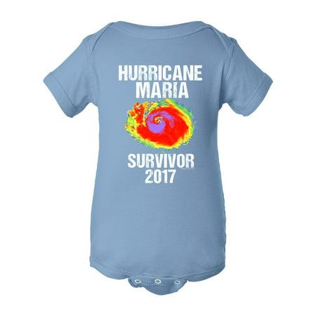 Hurricane Maria Survivor 2017 Dt Infant Baby Rib Bodysuit