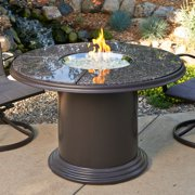 Outdoor GreatRoom 48 in. Dining Height Fire Table with Free Lazy Susan Burner Cover and Optional Glass Guard