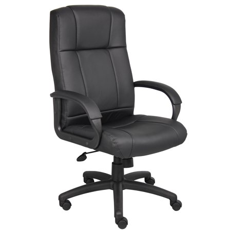 Caressoft Executive High Back Chair Black - Boss Office Products