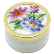 Herrschners September Aster Music Box Counted Cross-Stitch Kit