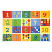 """Fun Rugs Number Blocks 39"""" x 58"""" Rug"""