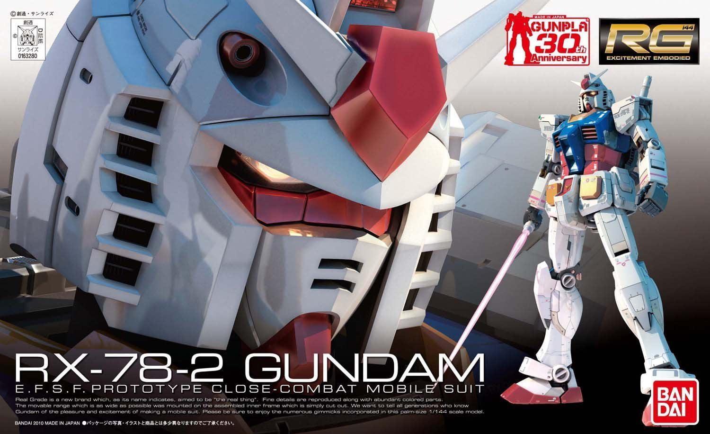 Bandai Hobby Mobile Suit Gundam RX-78-2 Gundam RG 1 144 Scale Model Kit by Bandai Hobby