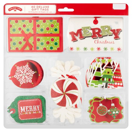 40 Count Deluxe Holiday Gift Tags