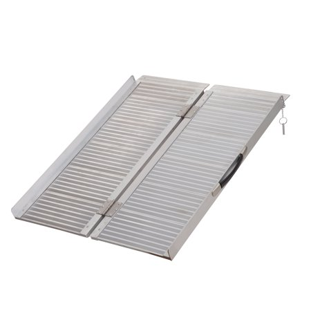 3' Wheelchair Ramp Foldable Portable Scooter Mobility Easy Access Carrier Ramp with Carrying Handle Aluminum Alloy - image 7 of 7