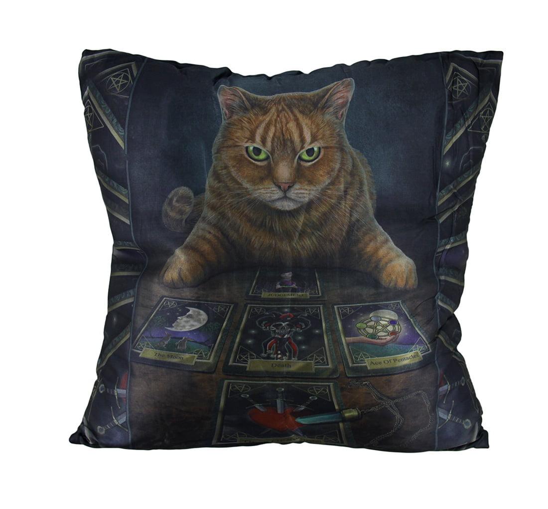 Lisa Parker 'The Reader' Cat and Tarot Cards Decorative Throw Pillow - image 2 of 2