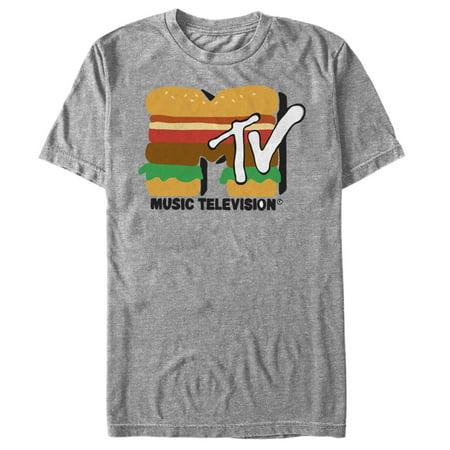 Mtv Cheeseburger Logo Mens Graphic T Shirt