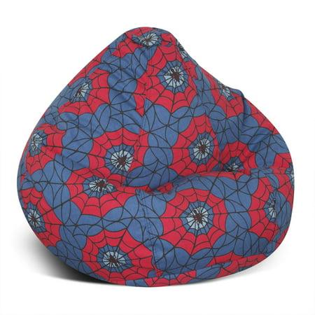Elite Medium Spider Web Teardrop Bean Bag Chair Product Image