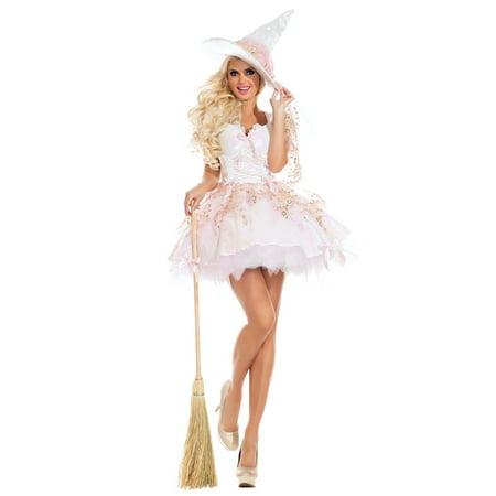 Halloween Adult Sassy White Magic Witch