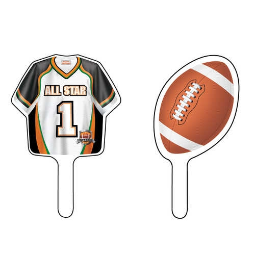 Football Party Shirt and Ball Cupcake Picks