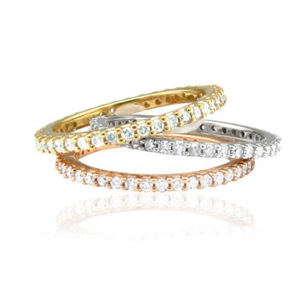 1/2Ct Diamond Eternity Ring 14K White, Yellow, Or Rose Gold - image 4 de 4