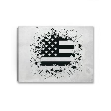 Awkward Styles American Flag Canvas USA Wall Art Patriotic America ...