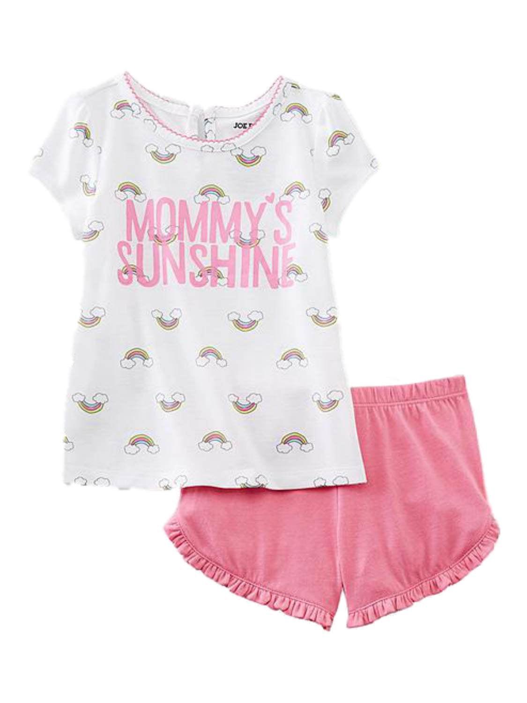 Joe Boxer Infant Toddler Girls Mommys Sunshine Pajamas Top Shorts Sleep Set