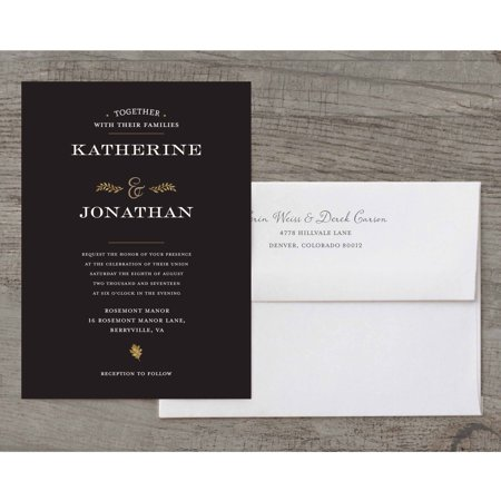 Autumn Leaves Deluxe Wedding Invitation