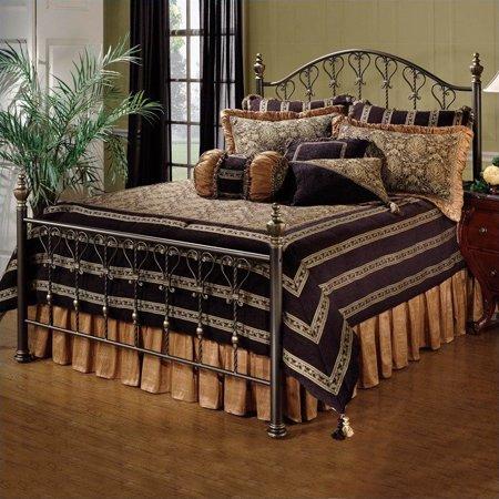 Hillsdale Huntley Metal Panel Bed in Dusty Bronze Finish-Queen Hillsdale Bronze Poster Bed