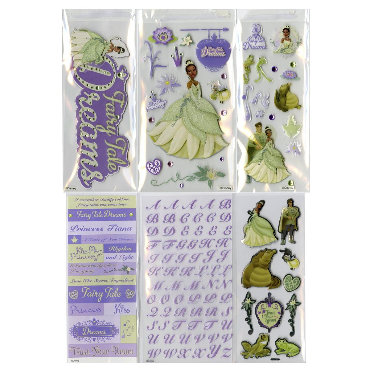 Disney Value Sticker Set - 4 Dimensional & 2 Flat Sheets-Princess & The Frog